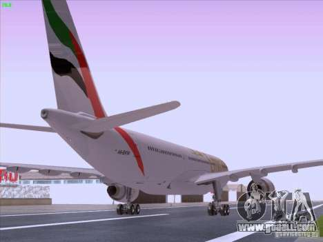 Airbus A330-200 Emirates for GTA San Andreas back left view