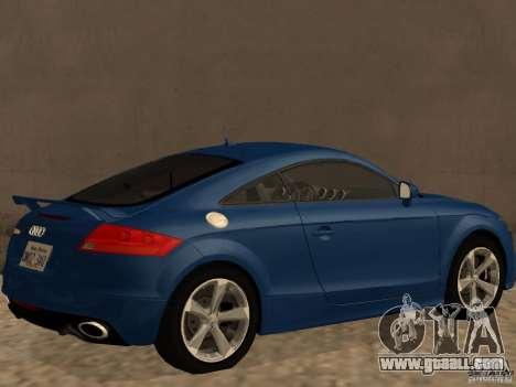 Audi TT RS for GTA San Andreas back left view