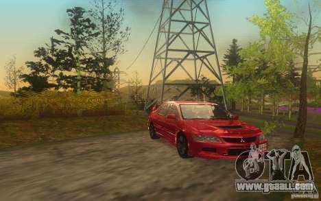 Mitsubishi Lancer Evolution IX 2006 MR v2 for GTA San Andreas back left view