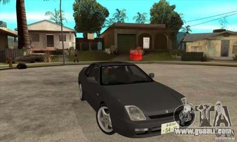Honda Prelude SiR for GTA San Andreas back view