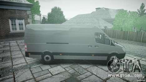 Mercedes Benz Sprinter Long Version for GTA 4 inner view