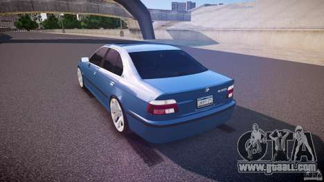 BMW 530I E39 e63 white wheels for GTA 4 back left view