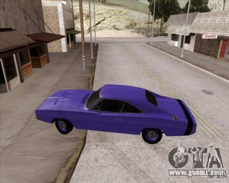 Dodge Charger RT 440 1968 for GTA San Andreas right view