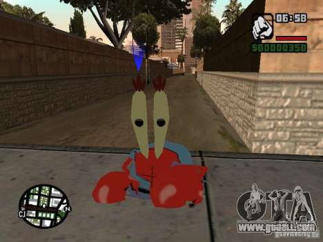 Mr. Krabs for GTA San Andreas third screenshot