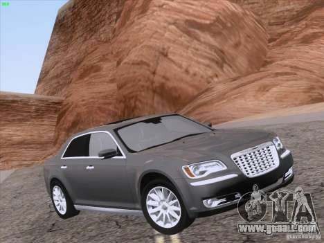 Chrysler 300 Limited 2013 for GTA San Andreas upper view