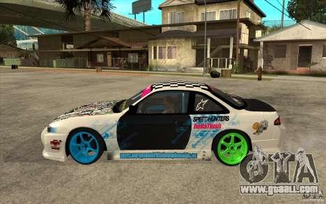 Nissan Silvia S14 Drift Bomb for GTA San Andreas left view