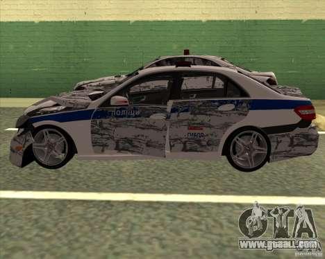 Mercedes-Benz E63 AMG W212 for GTA San Andreas upper view