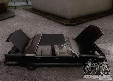 Buick Roadmaster 1996 for GTA San Andreas inner view