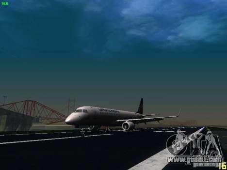 Embraer ERJ 190 Lufthansa Regional for GTA San Andreas left view