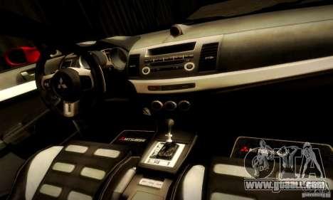Mitsubishi Lancer Evolution X for GTA San Andreas upper view