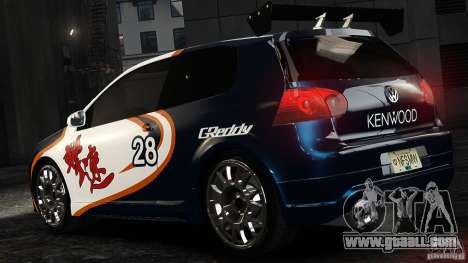 Volkswagen Golf V GTI Blacklist 15 Sonny v1.0 for GTA 4 left view