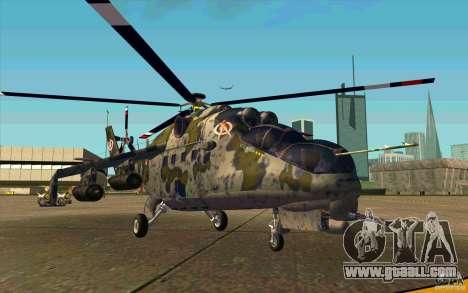 Mi-24 for GTA San Andreas left view