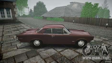Pontiac GTO 1965 for GTA 4 interior