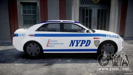 Carbon Motors E7 Concept Interceptor NYPD [ELS] for GTA 4 left view