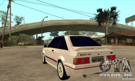 Ford Escort XR3 1992 for GTA San Andreas back left view