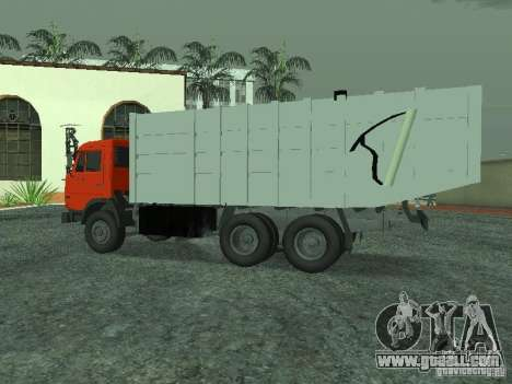 KAMAZ 53215 garbage truck for GTA San Andreas left view