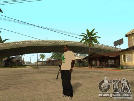 T-shirt with grass for GTA San Andreas second screenshot