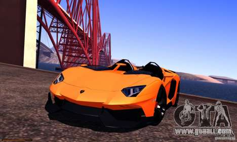 Lamborghini Aventador J for GTA San Andreas side view