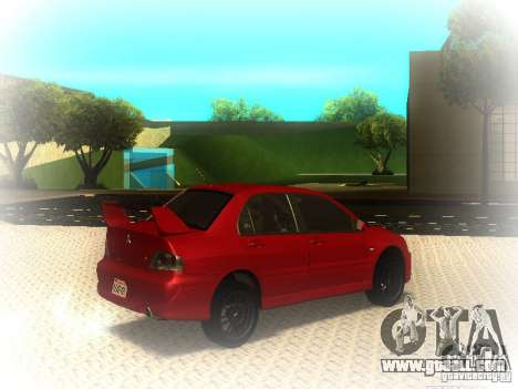 Mitsubishi Lancer Evolution IX MR 2006 for GTA San Andreas right view