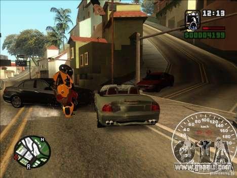 Spyder Cambriocorsa for GTA San Andreas inner view