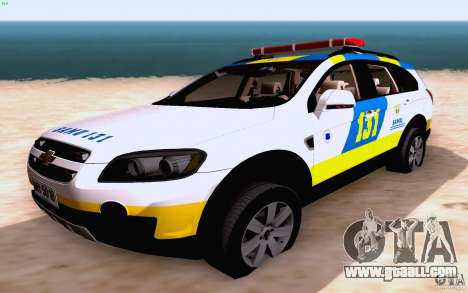 Chevrolet Captiva Police for GTA San Andreas side view