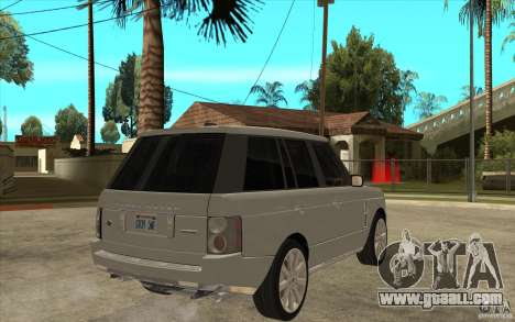 Land Rover Range Rover Supercharged 2009 for GTA San Andreas right view