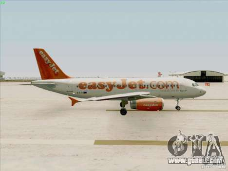Airbus A319 Easyjet for GTA San Andreas back view