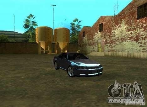 Nissan Skyline GTR-34 for GTA San Andreas left view