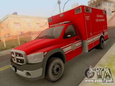 Dodge Ram 1500 LAFD Paramedic for GTA San Andreas