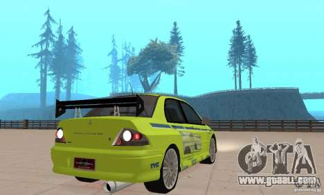 Mitsubishi Lancer Evo The Fast and the Furious 2 for GTA San Andreas left view