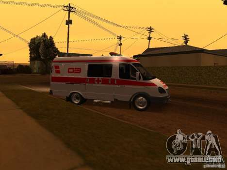 Gazelle ambulance for GTA San Andreas left view