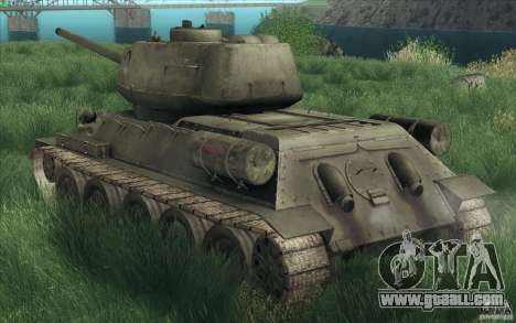 T-34-85 from the game COD World at War for GTA San Andreas inner view