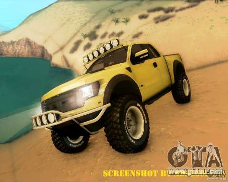 Ford F150 2011 SVT RapTor for GTA San Andreas interior