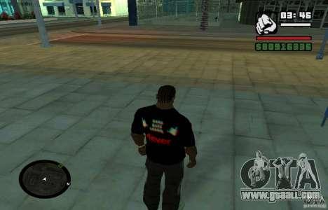 Hard Bass T-shirt. for GTA San Andreas second screenshot