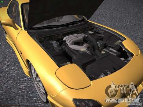 Mazda RX-7 FD3S C-West Custom for GTA San Andreas inner view