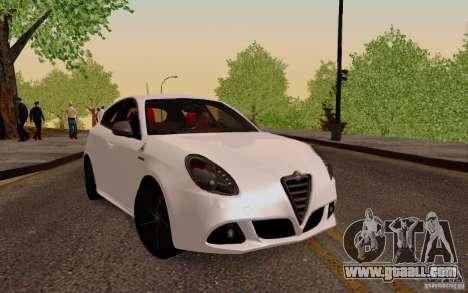Alfa Romeo Giulietta 2010 for GTA San Andreas