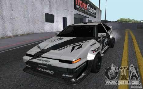 Toyota Corolla AE86 Shift 2 for GTA San Andreas