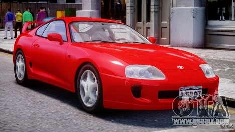 Toyota Supra MKIV 1995 v2.0 Final for GTA 4 left view