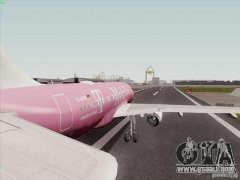 Airbus A319 Spirit of T-Mobile for GTA San Andreas right view