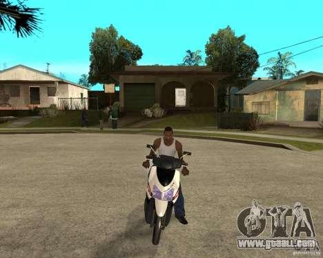 Honda Click for GTA San Andreas back view