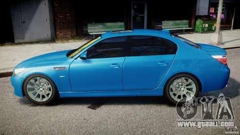 BMW M5 E60 2009 for GTA 4 left view