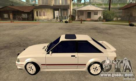 Ford Escort XR3 1992 for GTA San Andreas left view