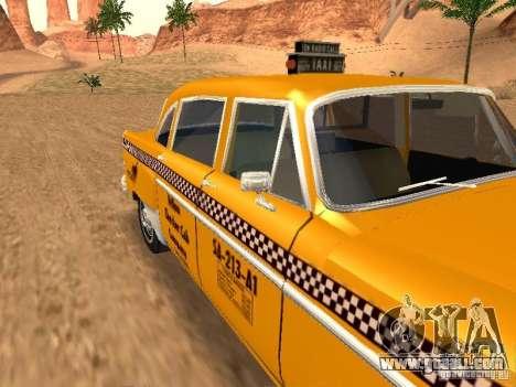 Checker Marathon Yellow CAB for GTA San Andreas right view