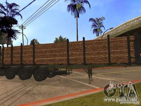 Trailer MAZ 99864 for GTA San Andreas left view