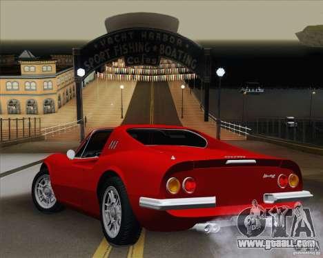 Ferrari 246 Dino GTS for GTA San Andreas left view