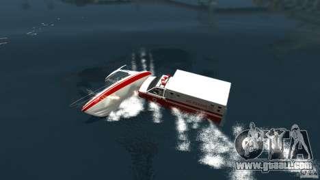 Ambulance boat for GTA 4 back left view