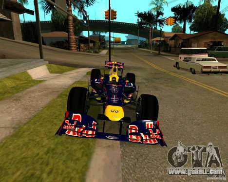 Red Bull RB8 F1 2012 for GTA San Andreas right view