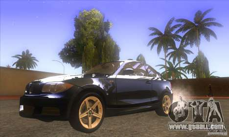 BMW 135i (E82) for GTA San Andreas back view