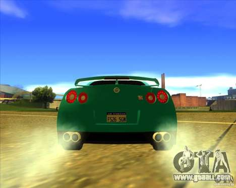 Nissan GT-R for GTA San Andreas right view