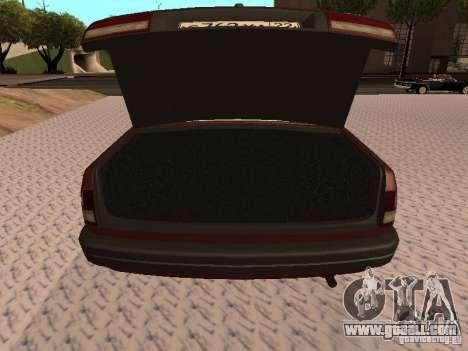 GAZ 3110 VOLGA v1.0 for GTA San Andreas inner view